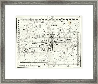 Cancer Constellation Framed Print by Us Navy