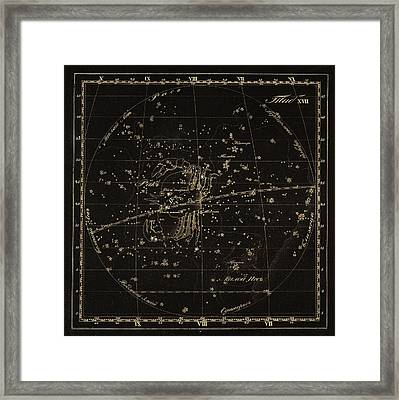 Cancer Constellations, 1829 Framed Print by Science Photo Library