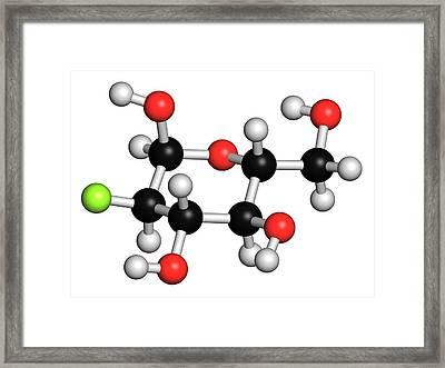 Cancer Imaging Molecule Framed Print