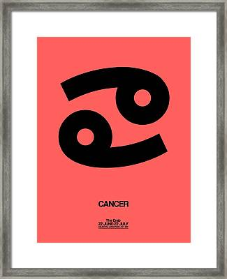 Cancer Zodiac Sign Black Framed Print