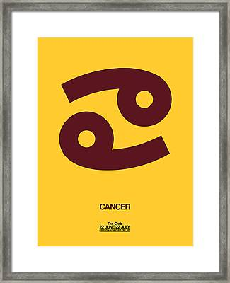 Cancer Zodiac Sign Brown Framed Print by Naxart Studio