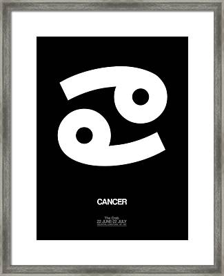 Cancer Zodiac Sign White Framed Print