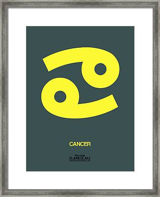 Cancer Zodiac Sign Yellow Framed Print