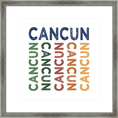 Cancun Cute Colorful Framed Print by Flo Karp