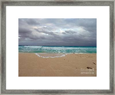 Cancun - Dark Sky Framed Print