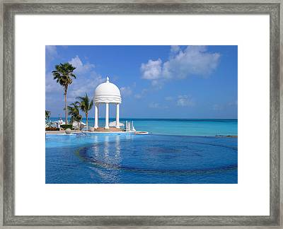 Cancun Temple Framed Print