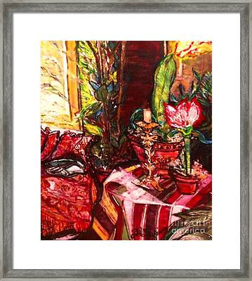 Framed Print featuring the painting Candela by Helena Bebirian