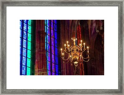 Candelabra, St Stephens Cathedral Framed Print by Peter Adams