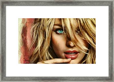 Candice Framed Print by Luis Blanco