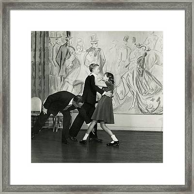 Candida Mabon And William C. Breed At Dancing Framed Print