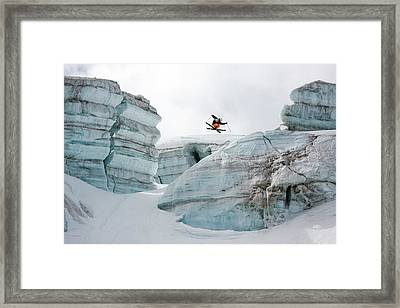 Candide Thovex Out Of Nowhere Into Nowhere Framed Print