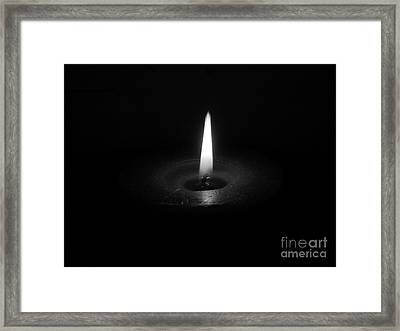 Candle B-w Framed Print