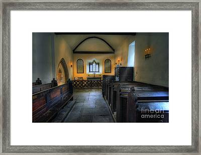 Candle Church Framed Print by Ian Mitchell