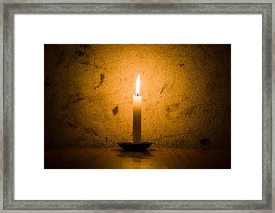 Candle Framed Print