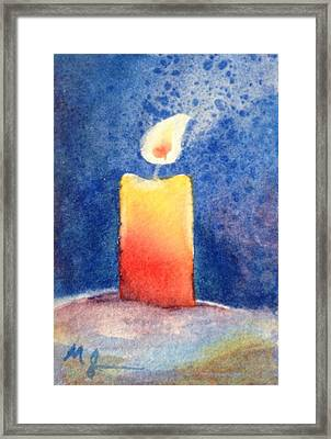 Candle Glow Framed Print by Marilyn Jacobson