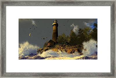 Candle In The Fray Framed Print by Dieter Carlton