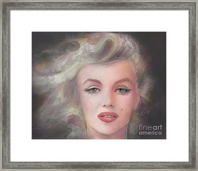 Marilyn, Candle In The Wind... Framed Print by Mark Tonelli