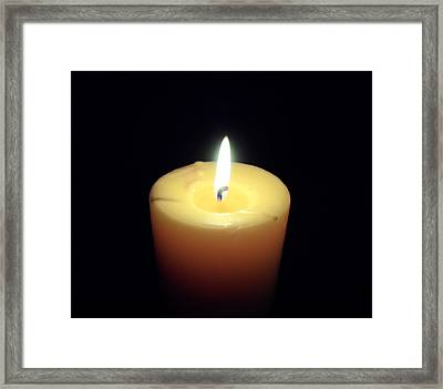 Candle Framed Print by Jenna Mengersen