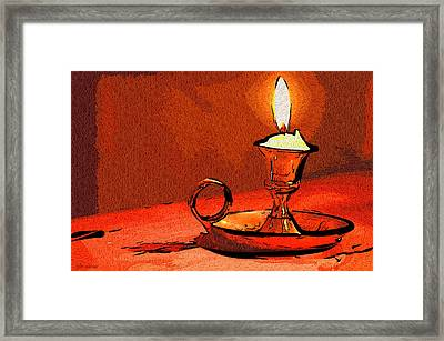 Candle Lamp Framed Print by Tyler Robbins