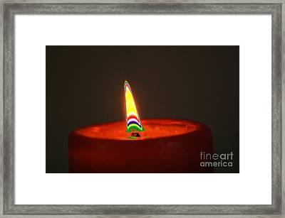 Candle Light Framed Print by Carol Lynch