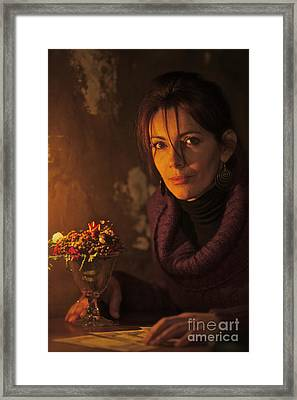 Candle Light Feelings. Framed Print by  Andrzej Goszcz
