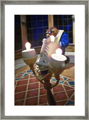 Candle Light Framed Print by Ryan Crane