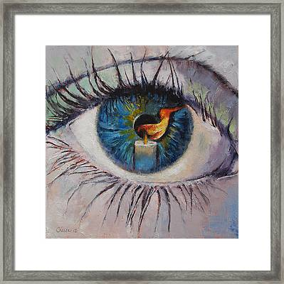 Candle Framed Print by Michael Creese