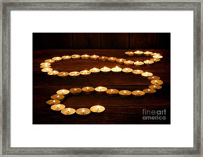 Candle Path Framed Print by Olivier Le Queinec