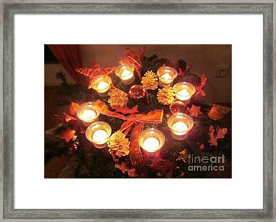 Candle Star Framed Print by Nina Donner