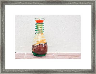 Candle Framed Print by Tom Gowanlock