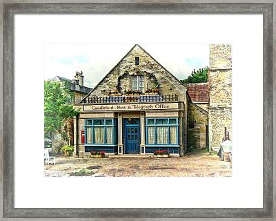 Framed Print featuring the photograph Candleford Post Office by Paul Gulliver