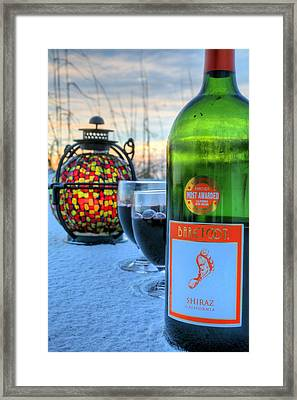 Candlelight And Wine Beach Style Framed Print by JC Findley