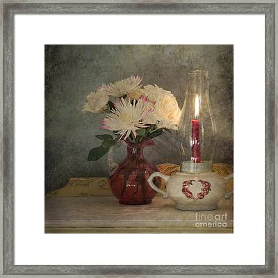 Candlelight Framed Print by Betty LaRue
