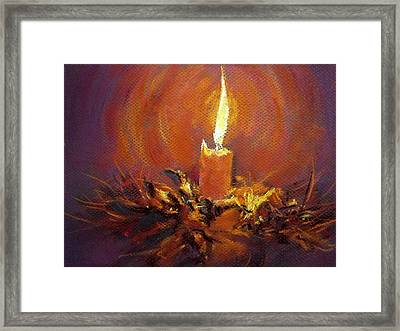 Framed Print featuring the painting Candlelight by Jieming Wang