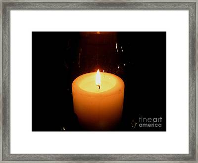 Candlelight Moments Framed Print
