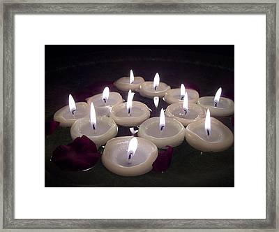 Candlelight Framed Print by Ramon Labusch