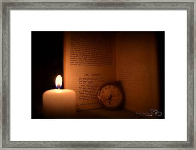 Candlelight Read Framed Print by Guy Hoffman