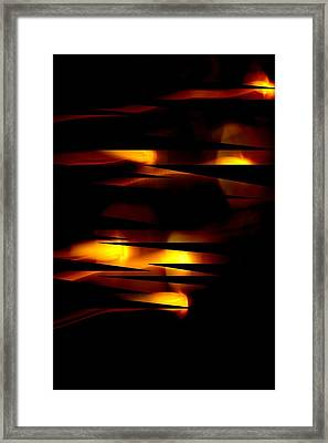 Framed Print featuring the mixed media Candlelight by Steve Godleski