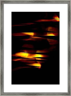 Candlelight Framed Print by Steve Godleski