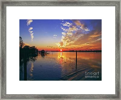 Candlelight Sunset Framed Print