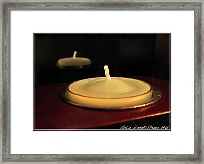 Candles And Relaxation Framed Print
