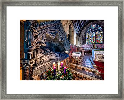 Candles At Christmas Framed Print