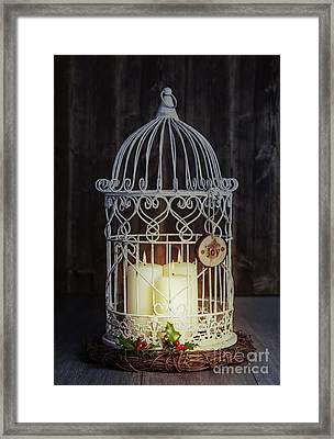Candles At Night Framed Print by Amanda Elwell