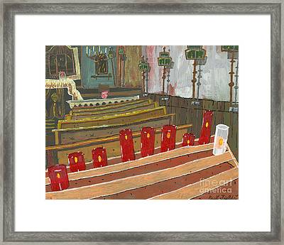 Candles In Cinque Terra Framed Print