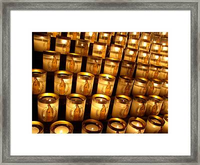 Framed Print featuring the photograph Candles Of Cathedrale Notre Dame De Paris by Cleaster Cotton