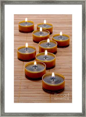 Candles Framed Print by Olivier Le Queinec