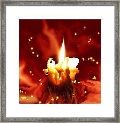 Framed Print featuring the painting Candletown by  Persephone Artworks