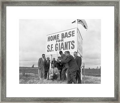 Candlestick Park Home Framed Print by Underwood Archives