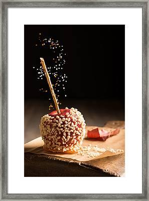 Candy Apple Framed Print by Amanda Elwell