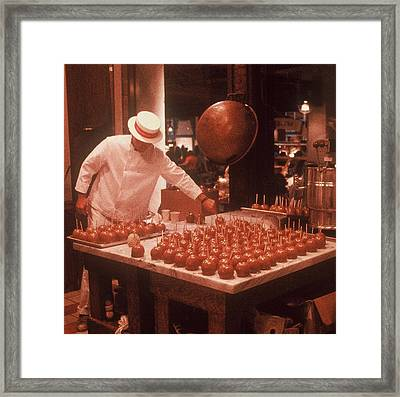 Framed Print featuring the photograph Candy Apple Man by Rodney Lee Williams